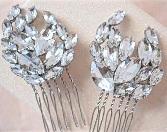 Rhinestone Hair Comb, Crystal Hair Comb, Bridal Hair Comb, Wedding Hair Comb, Crystal Hair Piece, Rhinstone Hair Piece, Bridal Hair Piece
