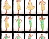 CLEARANCE DESIGNER SAMPLE Yellow Hawaiian Print Vacation Dress size S