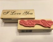 I Love you rubber stamp, 15 x 70 mm (SB1)