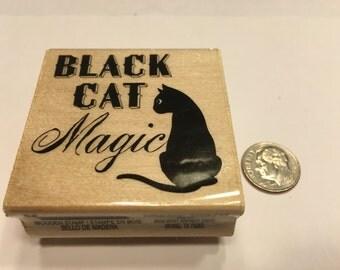 Black Cat Magic rubber stamp, 45 mm (BB7)