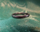 Hematite Ring.  Size 7.75, Thickness 1/12 Inch.  Excellent Condition