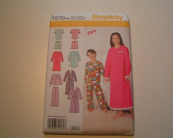 Simplicity Pattern 1570 Girl Boy Lounge Wear