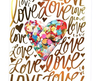 Love Confetti Card