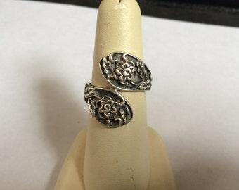Vintage 925 Sterling Silver Design Ring, Size 6.5