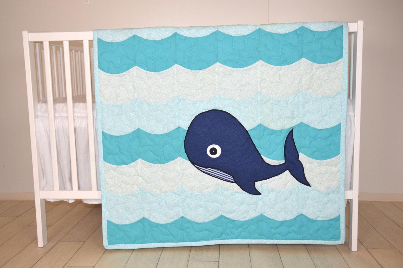 Nautical Nursery Bedding Whale Crib Quilt Childrens