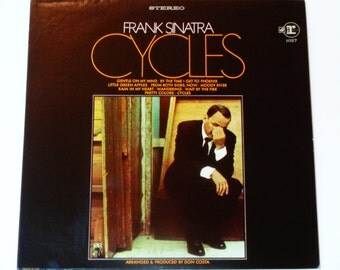 """Frank SInatra - Cycles - """"Gentle on My Mind""""  """"By the Time I Get to Phoenix"""" - Original Reprise Records 1969 - Vintage Vinyl LP Record Album"""