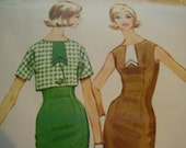 Vintage 1960's McCall's 5727 Dress and Jacket Sewing Pattern, Size 14, Bust 34 or Size 12, Bust 32 available