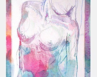 Watercolor Figure 2 -- Archival Print