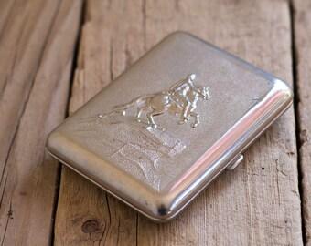 Vintage Cigarette Case, Cigarette Holder, USSR Cigarette Case