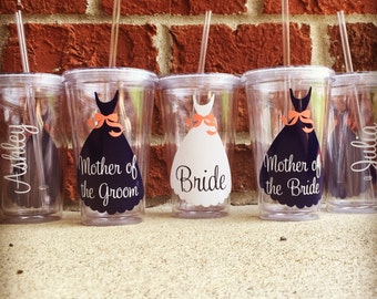 Wedding Tumblers, Wedding Cups, Mother of the Bride Cup, Mother of the Groom Cup, Mother of the Bride Tumbler, Mother of the Groom Tumbler