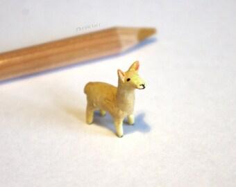 Miniature Llama, polymer clay figurine