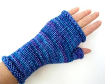Merino fingerless gloves wrist warmers