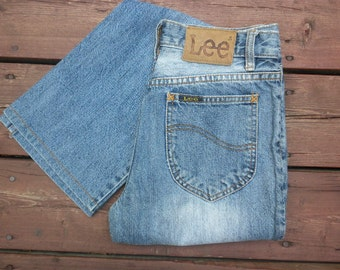 """Lee Jeans Vintage 90s High Waist Stone Wash Boot Cut W 28"""""""