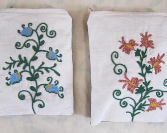 2 Uzbek Hand Embroidered Purses
