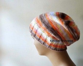 Slouchy hat,womens slouchy hat, mens slouchy hat, knitting beanie, handmade knitting hat, fall fashion, boho style hat