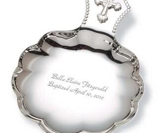 Engraved Silver Baptismal Shell