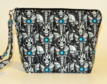 Doctor Who Cyberman print project bag