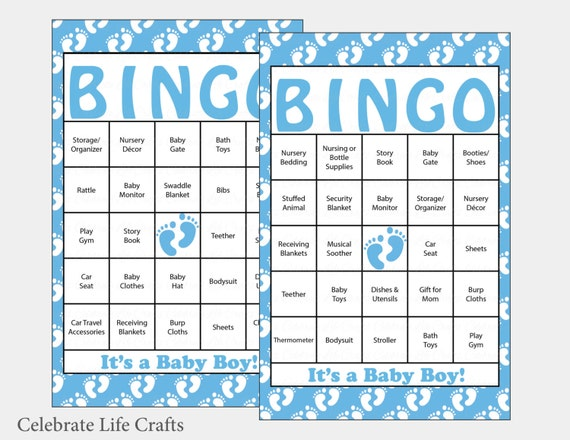 60 baby feet baby shower bingo cards 60 prefilled bingo cards il570xn pin it solutioingenieria Gallery