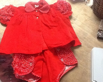 Vintage Evy of California Baby Girl Outfit