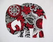 "Elephant Patch X Large 9 1/2"" Iron On Applique Patch"