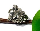 800 silver Baroque ring