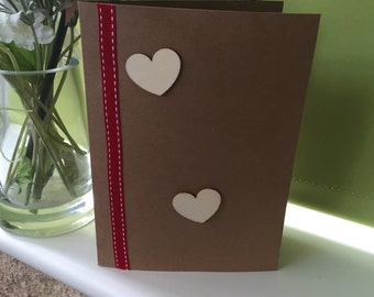 Handmade Heart Greetings Card