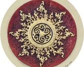 Celtic Sun - Cast Paper - Celestial - Irish art - Celtic art - Scottish art - Celtic Knot - Celtic Wheel