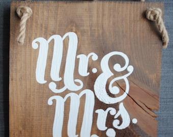 Mr & Mrs. Hanging Sign