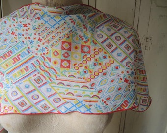 Vintage 1970s polyester scarf Specialty House  10 x 32 inches