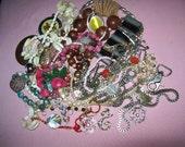 Destash jewelry,  destash crafts repurpose altered art  small flat rate box