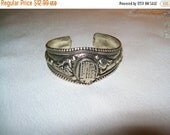 50% OFF Silvertone cuff bracelet, chinese design bracelet