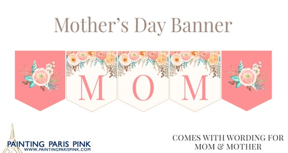 Mother's Day Banner Printable Instant Download