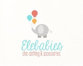 elephant logo baby children kids - Logo Design #424