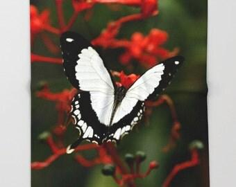 Fleece Throw Blanket, Mocker Swallowtail Butterfly, Throw Blanket, Photo Throw Blanket, Home Decor, Sherpa Throw, Photography