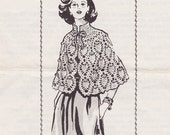RARE Vintage Pineapple Shawl Crochet Pattern - Mail Order 716 - Size 8 to 16 ORIGINAL