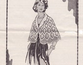 RARE Vintage Pineapple Shawl Crochet Pattern - Mail Order 729 - Size 36 to 44 ORIGINAL
