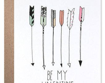 Be My Valentine Arrow Card