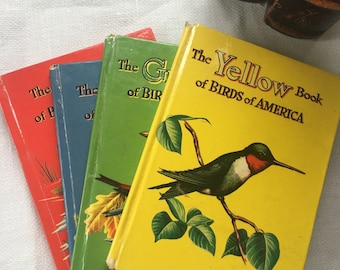 Scarce Set of 4 Birds of America 1954 Asbrook Whitman