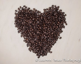 Coffee beans, still life photography, kitchen decor, home decor wall art, coffee lover, fine art photography