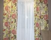 Ready to ship Razzle  2 Curtain Panels