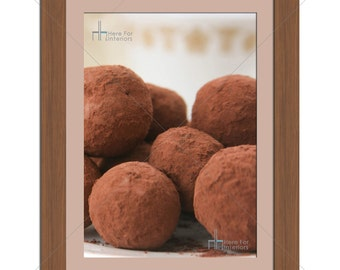 Tasty Chocolate Truffles Food Photographic Print - Various Sizes - Gift Idea