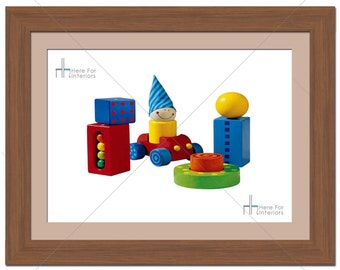 Bedroom Wooden Blocks Kids Photographic Print - Various Sizes - Gift Idea