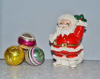 Spaghetti Santa Bank ~ Vintage Christmas ~ Kitsch ~ Santa Figurine ~ Decoration Epsteam