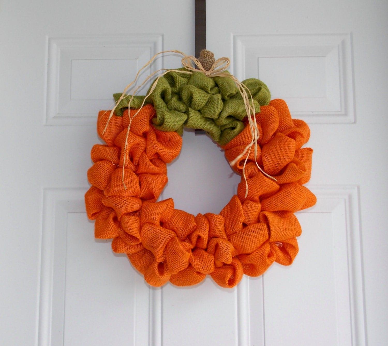 Pumpkin Wreath Fall Wreath