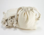 Muslin Bags | 25 Cotton Muslin Bags Pouches (3 by 4 inch) Gift Bags | Unbleached Muslin Favor Bags, Cotton Pouches, Packaging, EcoFriendly
