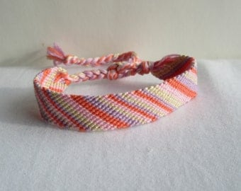 SALE!!!!! Friendship Bracelet - Angle - pastels - Afghan