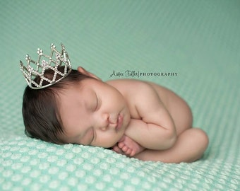 princess crown, newborn photo prop, photography prop, Newborn Crown - Photo Prop | Tiara - Diana