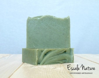 Fir Balsam artisanal soap, with olive oil and shea butter, Handmade.