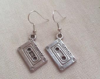 Cute Retro Cassette Tape Earrings Music Gift