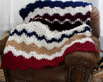 Handmade Crochet afghans - choose colors, patterns, and size - Made to order